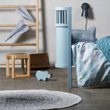 Sebra Lit bébé et junior bois bleu 112.5-155x70x88cm