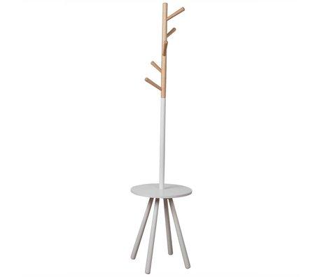 Zuiver Coat Rack Rack Tischbäumchen weiß Holz weiß 179xØ40cm