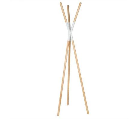 Zuiver Kapstok Rack Pinnacle white, hout 176x59x56cm