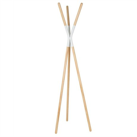 Zuiver Coat Rack Rack Pinnacle white, wood 176x59x56cm