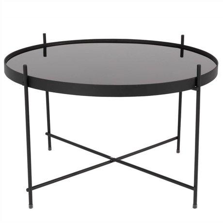 Zuiver Beistelltisch Amor große schwarze Metall schwarz Ø62,5 × 40cm