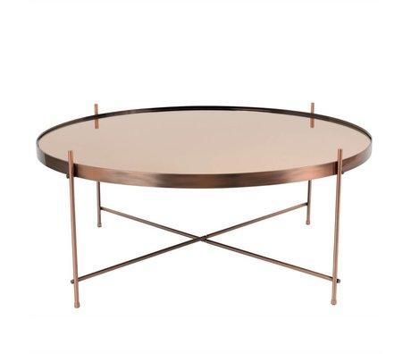 Zuiver Bijzettafel Cupid XXL copper, metaal koper Ø82,5×35cm