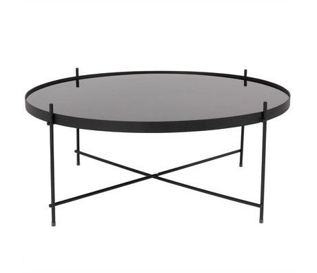 Zuiver Beistelltisch Amor XXL schwarz, schwarz-metallic Ø82,5 × 35cm