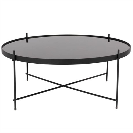 Zuiver Occasional table Cupid XXL black, metallic black Ø82,5 × 35cm