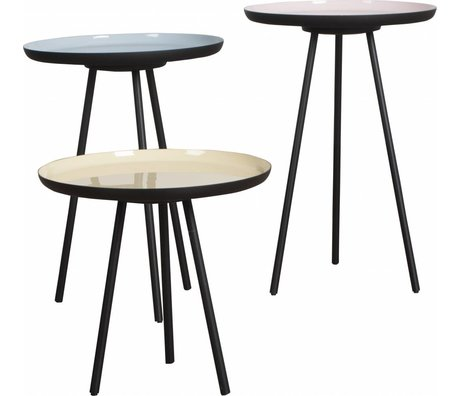 Zuiver Occasional table Enamel set of three iron multicolour 3 sizes