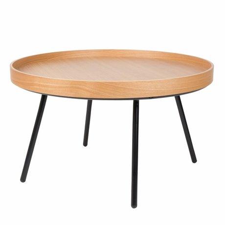 Zuiver Bijzettafel Coffee Table Oak tray, hout Ø78x45cm