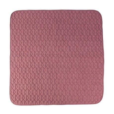Sebra Pink cotton blanket 120x120cm