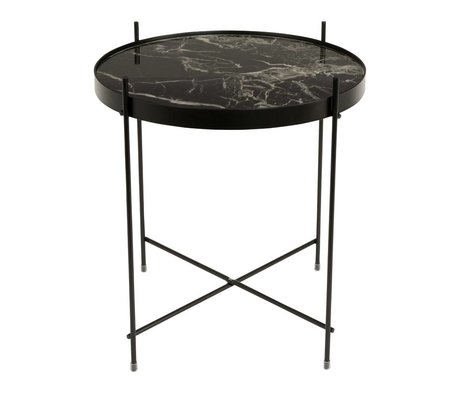 Zuiver Occasional table marble Cupid black metal black Ø43x45cm