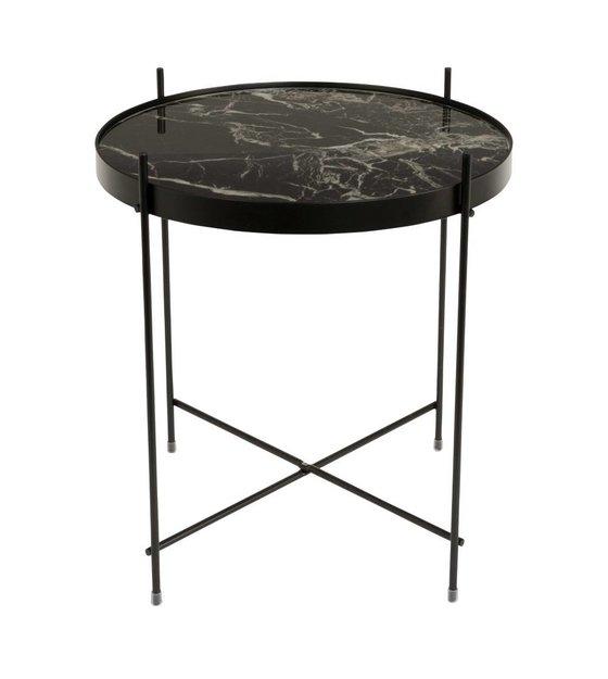 Beistelltisch Marmor zuiver beistelltisch marmor schwarz metall schwarz ø43x45cm