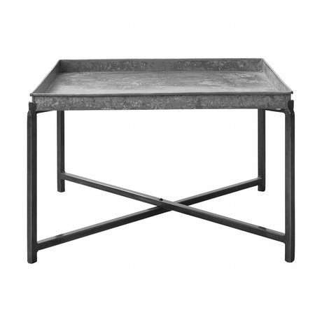 Housedoctor Table d'appoint Cool, 70x70x45cm en métal argenté