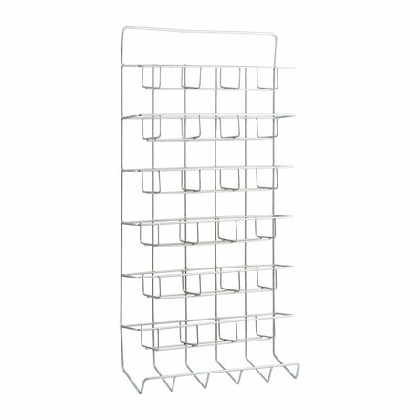 Housedoctor All white metal shelving unit 45x12x90cm