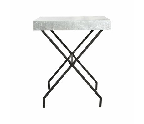 Housedoctor Brooklyn white metal table 65x65x72cm