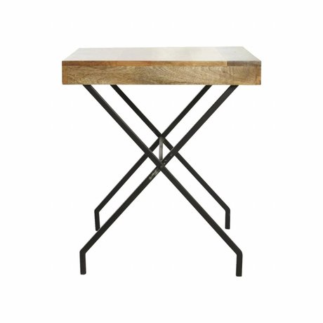 Housedoctor Brooklyn black metal table 65x65x72cm