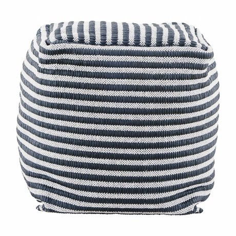 Housedoctor Pouf Function black and white textile 40x40x40