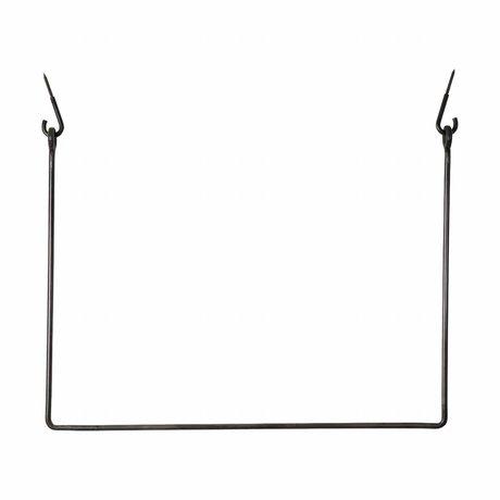 Housedoctor Coat Rack Rack black, black metal 75x100cm