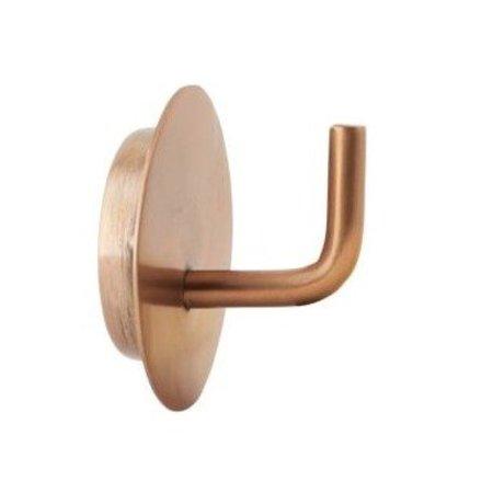 Housedoctor Haak Text aluminium goud ø4x3cm