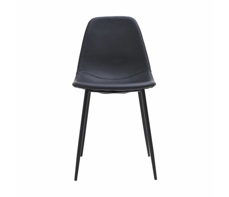 Housedoctor Dining chair Chairforms black PU leather 43x53x83,5cm