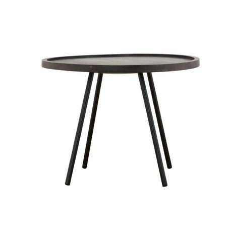 Housedoctor Table d'appoint Juco métal noir ø60x45cm bois