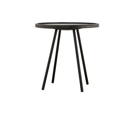 housedoctor club tisch braun metall holz 130x76cm wonen met lef. Black Bedroom Furniture Sets. Home Design Ideas