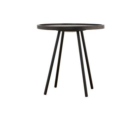 Housedoctor Table d'appoint Juco métal noir ø50x50cm bois