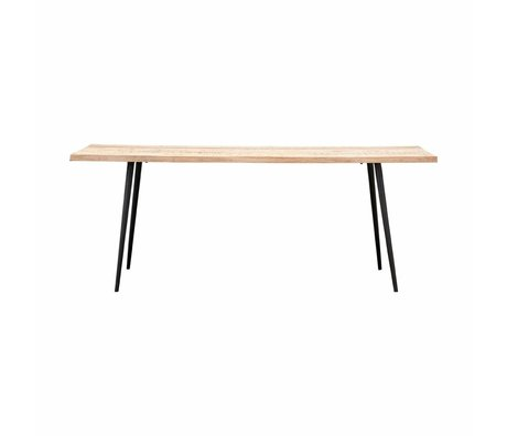 Housedoctor Club Tisch Holz Metall 80x200x76cm