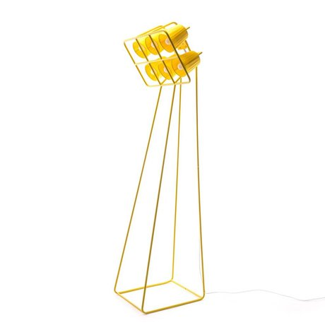 Seletti Multi Floor Lamp Floor Lamp yellow metal 53x51x180cm