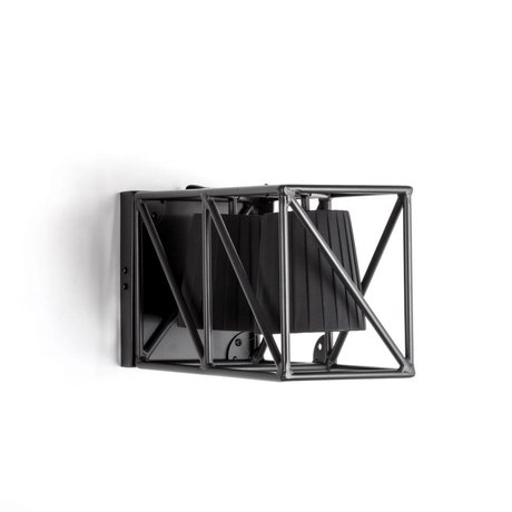 Seletti Wandleuchte Multi Wandleuchte schwarz schwarz Metall 38x22x17,5cm