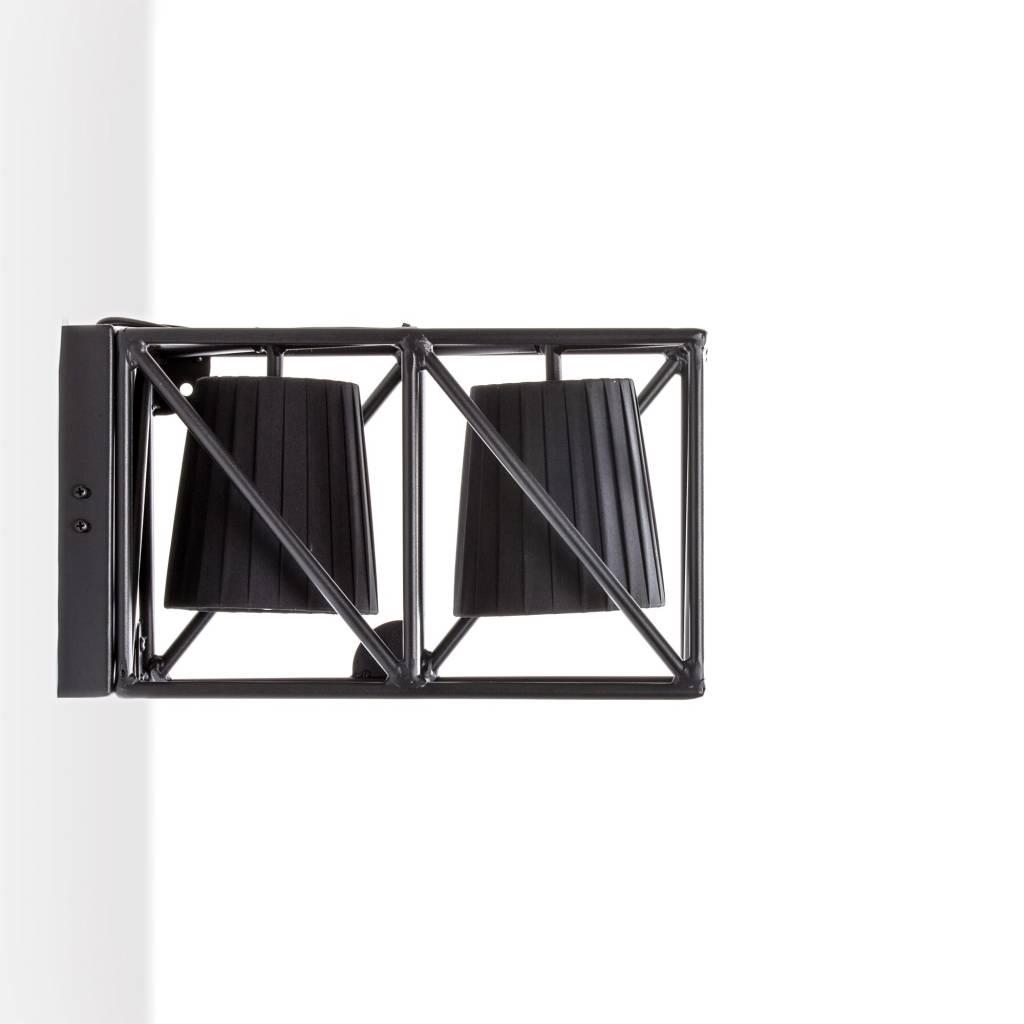 Seletti wandlamp multilamp wall black zwart metaal 38x22x17 5cm - Applique ontwerp industriel ...