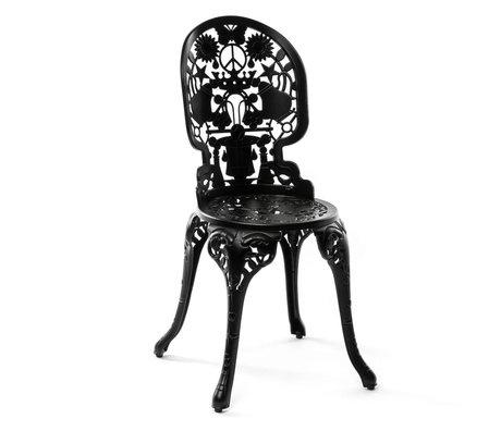 Seletti Chair Industry black aluminum 40x40x92cm