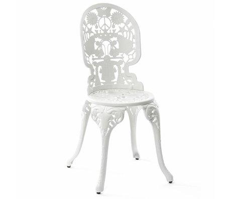 Seletti Industrie Stuhl weiß Aluminium 40x40x92cm