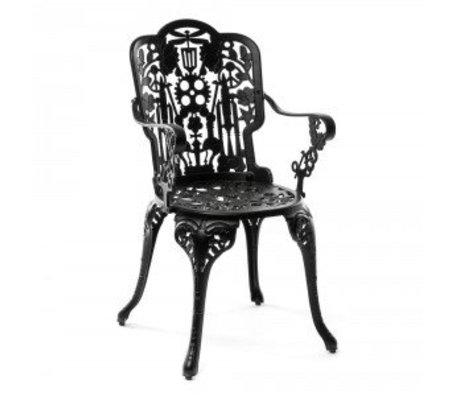 Seletti Stuhl Industrie schwarz Aluminium 52x55x94cm