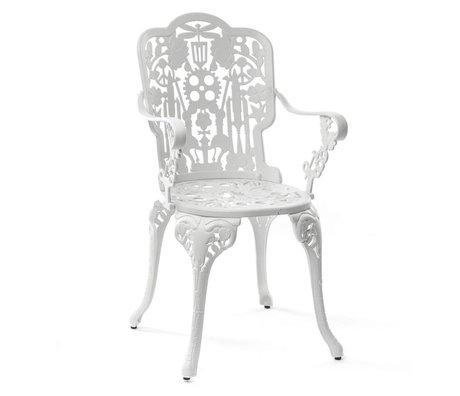 Seletti Industrie Stuhl weiß Aluminium 52x55x94cm