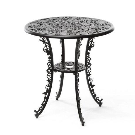 Seletti Tabelle Industry schwarz Aluminium ø70x74cm