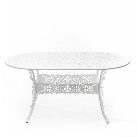 Seletti Industry white aluminum table 152x90x74cm