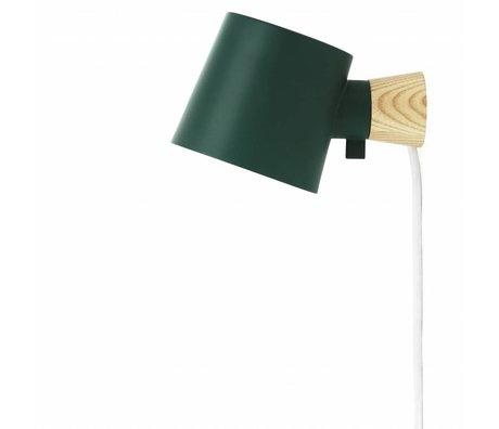 Normann Copenhagen Wandleuchte Aufstieg grün Metall Holz 9,7x17x10cm