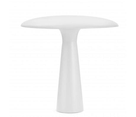 Normann Copenhagen Lampe de table en acier blanc Abri ø41x41cm