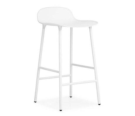 Normann Copenhagen Barstool Form white plastic steel 77x42,5x42,5cm