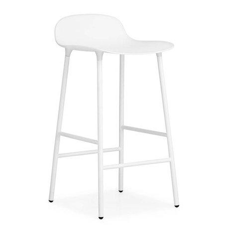 Normann Copenhagen Forme Barstool plastique blanc 77x42,5x42,5cm en acier