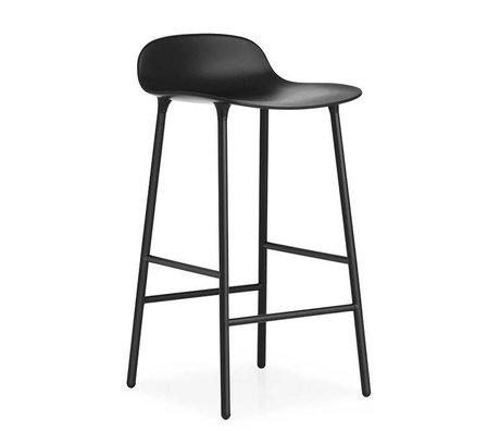 Normann Copenhagen Barstool Form black plastic steel 77x42,5x42,5cm