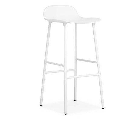 Normann Copenhagen Forme Barstool plastique blanc 87x44x44cm acier