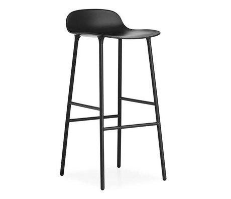 Normann Copenhagen Forme Barstool plastique noir 87x44x44cm acier