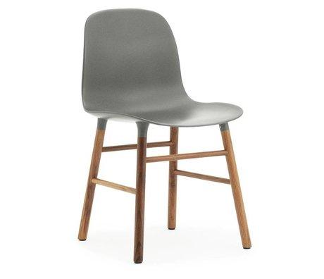 Normann Copenhagen Bilden grau Kunststoff-Stuhl aus Walnussholz 78x48x52cm