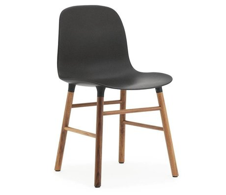 Normann Copenhagen Bilden grau Kunststoff-Stuhl aus Walnussholz 78x48x52cm - Copy