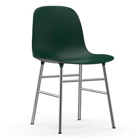Normann Copenhagen Form Chair green plastic chrome 78x48x52cm