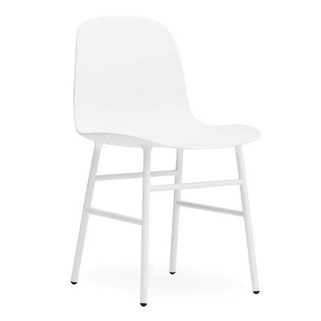 Normann Copenhagen Form-Stuhl aus weißem Kunststoff Stahl 78x48x52cm