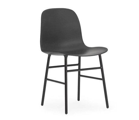 Normann Copenhagen Form-Stuhl aus schwarzem Kunststoff Stahl 78x48x52cm