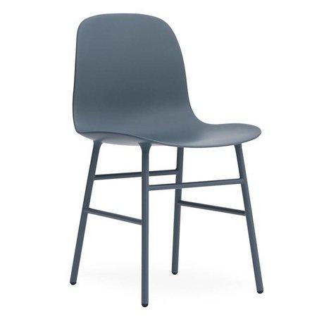 Normann Copenhagen Form blue plastic seat steel 78x48x52cm