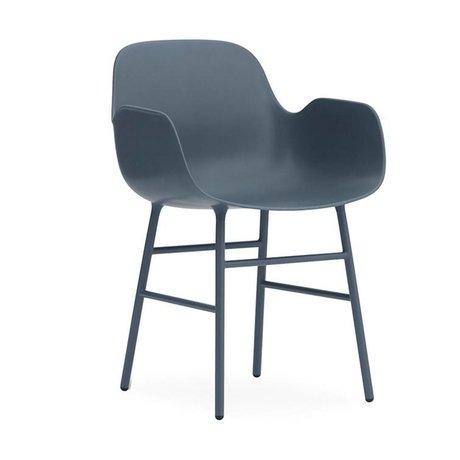 Normann Copenhagen Armchairs Form blue plastic steel 80x56x52cm