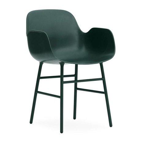 Normann Copenhagen Armchairs Form green plastic steel 80x56x52cm