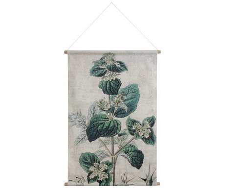 HK-living School Poster Botanical printed multicolor cotton wood 100x70x2,5cm